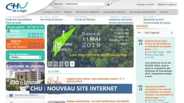 Nouveau site Internet pour le CHU de Liège !
