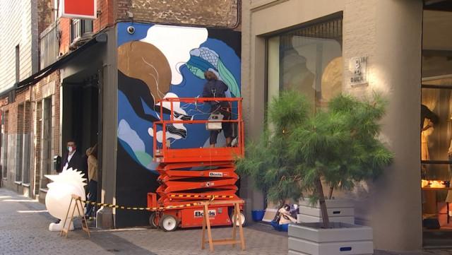 une fresque pour Disney au centre de Liège