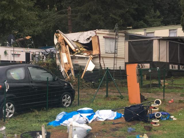 Orage et dégâts importants à Hamoir et à proximité