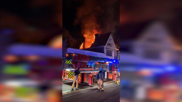 Oreye : incendie dans un ancien bureau de Poste en rénovation