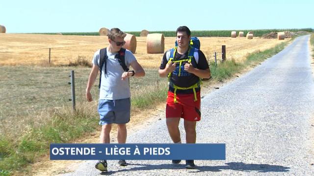Ostende-Liège à pieds pour deux jeunes Liégeois