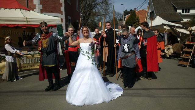 Ouffet : un mariage aux Médiévales