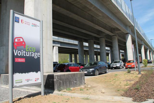 Parking d'éco-voiturage à Bassenge