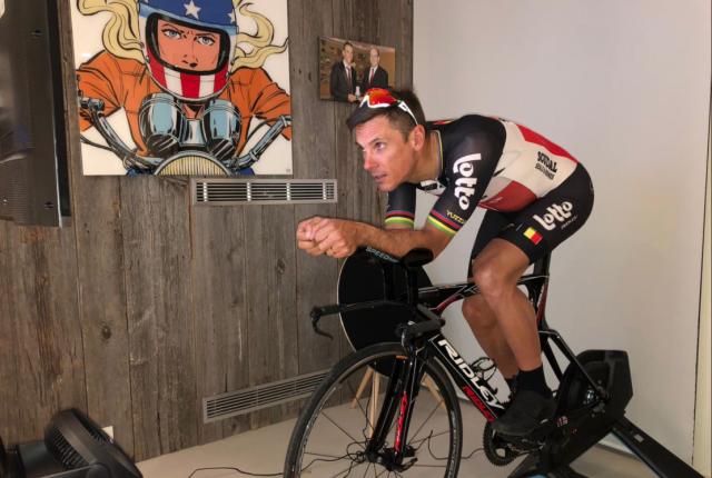 Philippe Gilbert déjà de retour sur un vélo