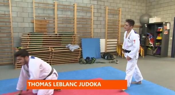 Portrait du jeune judoka Thomas Leblanc
