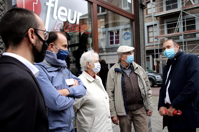 Première visite ministérielle de Christophe Collignon à Liège