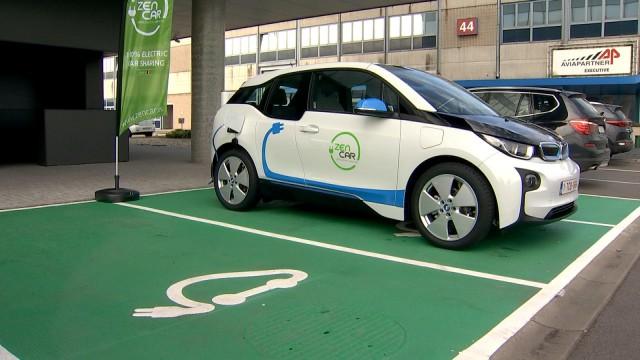 Premiers pas liégeois de la voiture partagée électrique, à Liège Airport