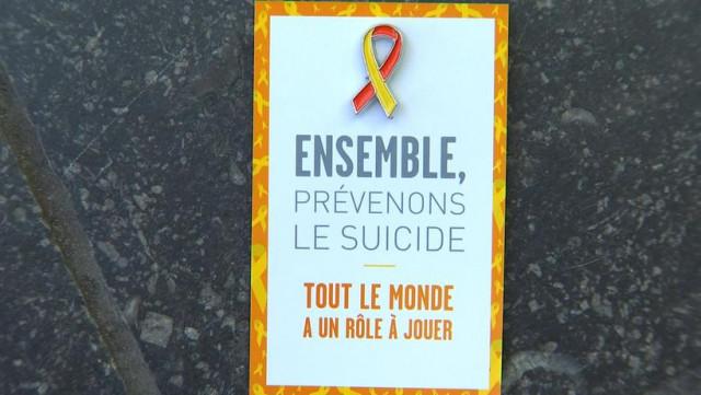 'Tout le monde peut agir contre le suicide'
