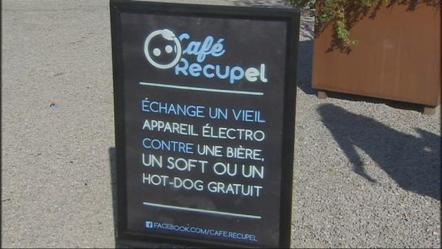 Le Café Récupel attendait les électroménagers usagés des étudiants