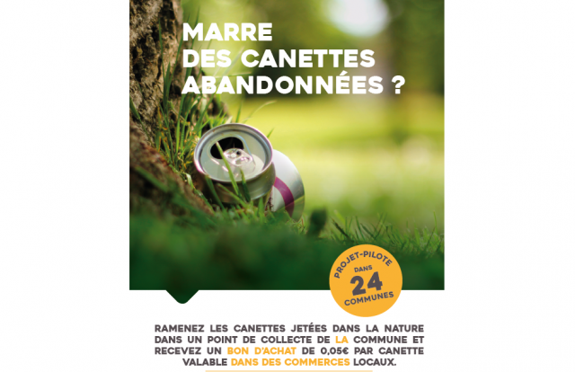 Reprise des canettes abandonnées : 4 communes liégeoises participent