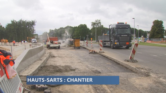 Rond point des Hauts Sarts : attention travaux !