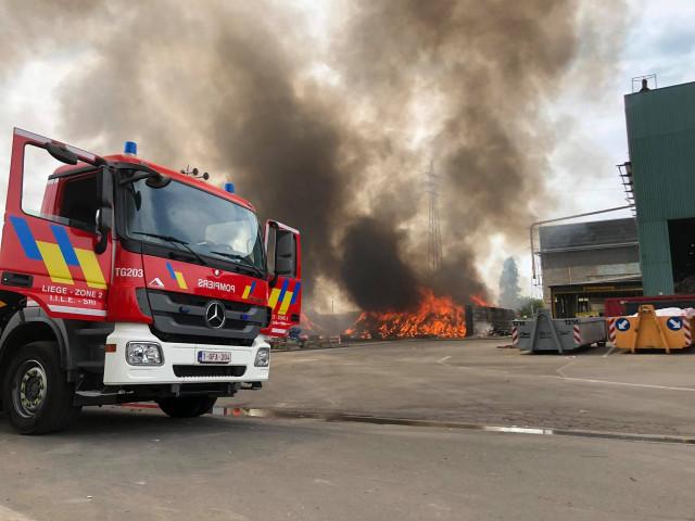 Seraing : incendie chez Renewi, spécialiste du recyclage