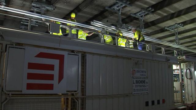 SNCB : des caténaires en dur dans le tunnel Saint Martin