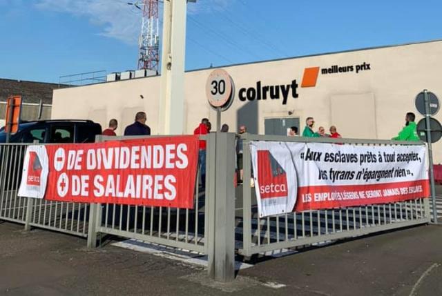 Social : le personnel du Colruyt de Chênée a levé le piquet de grève vers 11h45
