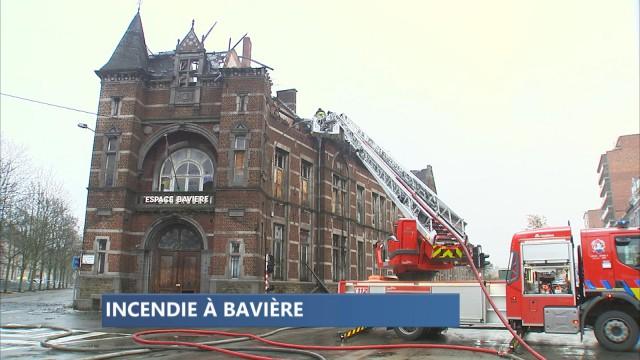 Spectaculaire incendie sur le site de Bavière à Liège