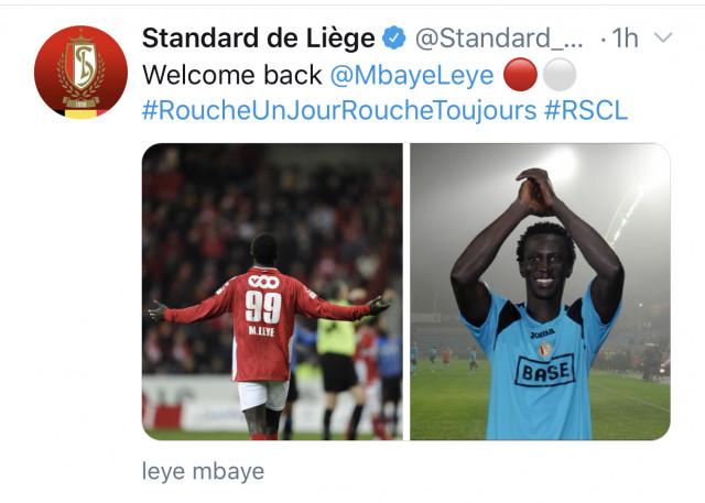 Standard : Ferrera s'en va, Mbaye Leye le remplace