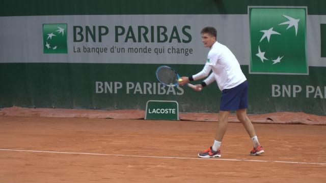 Une première à Paris pour Raphaël Collignon avec coach Darcis