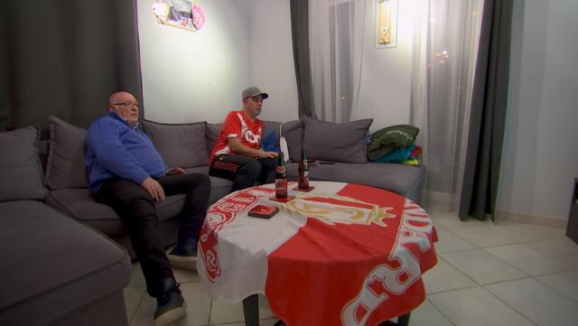 Supporters Rouches confinés pour le derby wallon