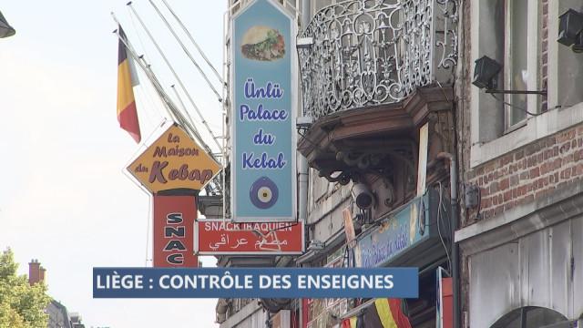 Surveiller les enseignes pour améliorer l'image de Liège