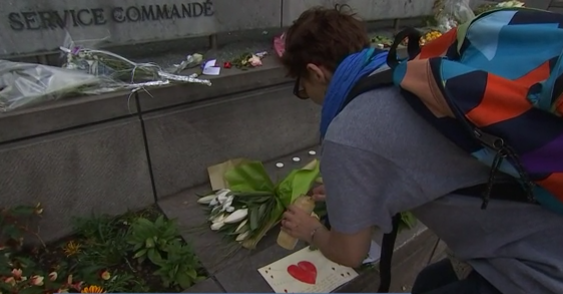 Témoignages d'hommages aux victimes de la fusillade de Liège