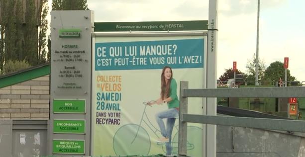 Traditionnelle collecte de vélos dans les recyparcs