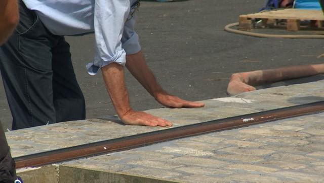 Tram de Liège : à quoi vont ressembler les parties pavées entre les rails !
