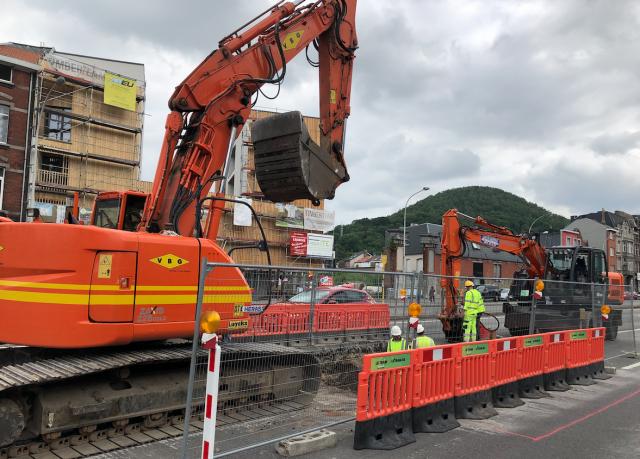 Tram : de nombreux travaux ponctuels au centre de Liège