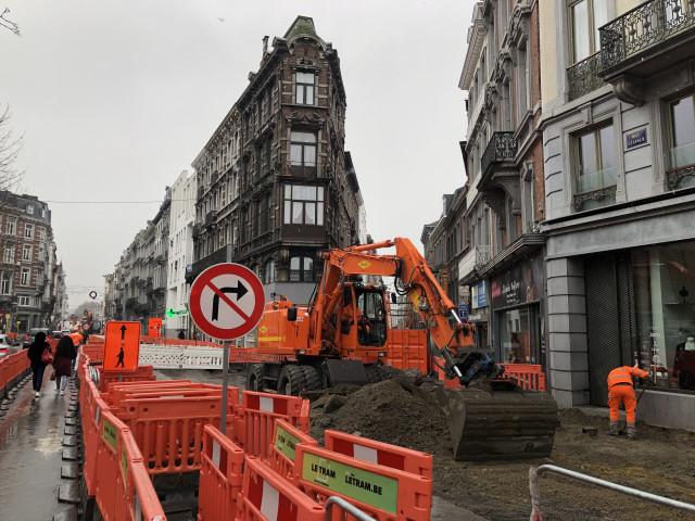 Tram En Commun S3#16 : travaux d'infrastructure rue Léopold
