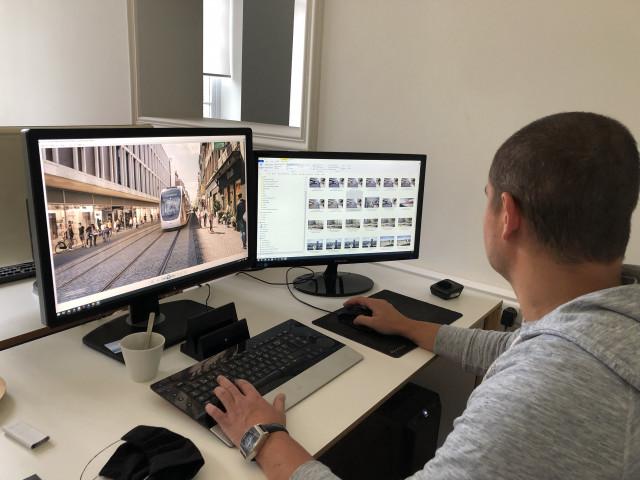 Tram En Commun S3#4 : les images 3D de Miysis placent le tram dans la ville