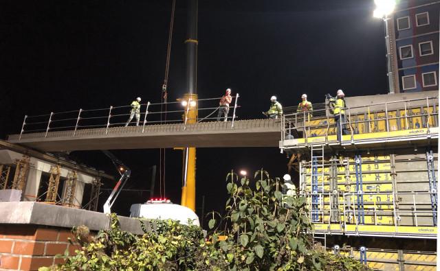 Tram : reconstruction ce week-end du pont des Tilleuls