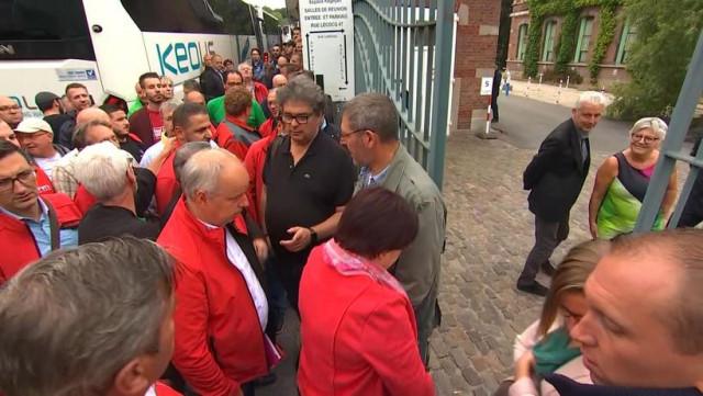 Travailleurs de l'armement chez Ecolo et au MR à Namur
