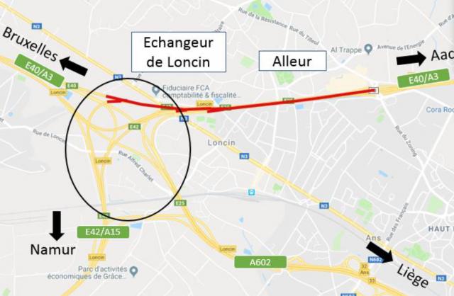 Travaux E40 Alleur-Loncin : nouvelle phase