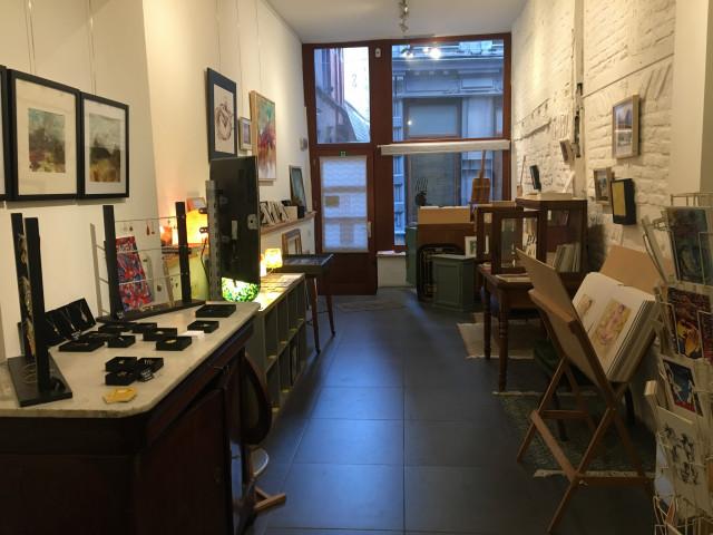 Un art-shop éphémère dans une ruelle à Liège!