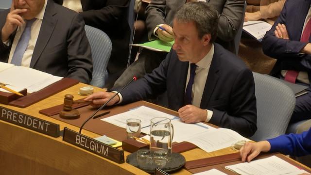 Philippe Goffin préside le Conseil de Sécurité à New-York
