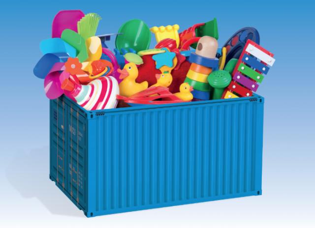 Un défi solidaire : remplir un conteneur de jouets !
