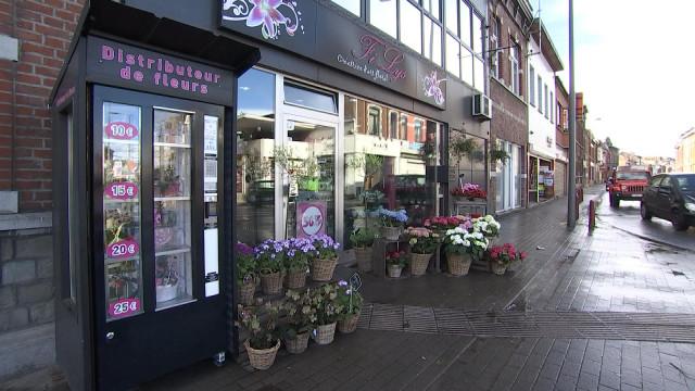 Un distributeur de fleurs à Herstal