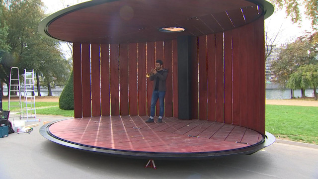 Un kiosque artistique mobile et équitable