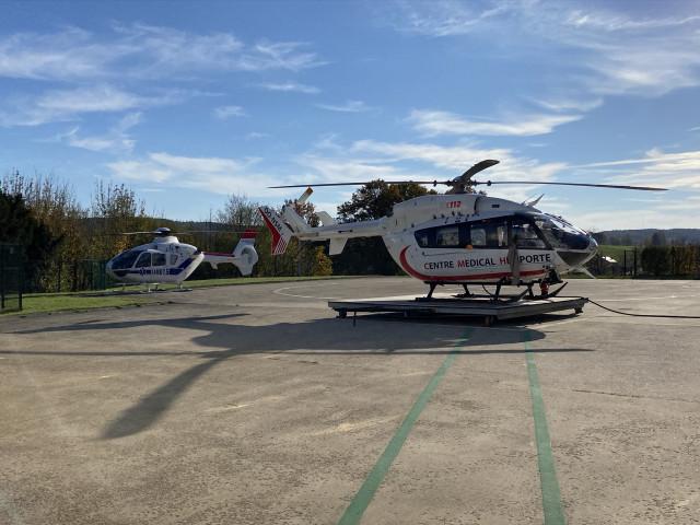 Un second hélicoptère pour les transferts COVID