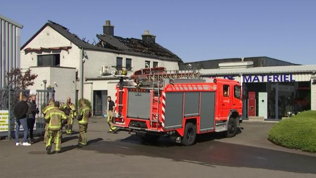 Un violent incendie a ravagé l'entreprise Technomat à Blegny