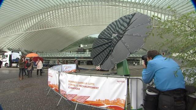Une fleur géante et photovoltaïque aux Guillemins