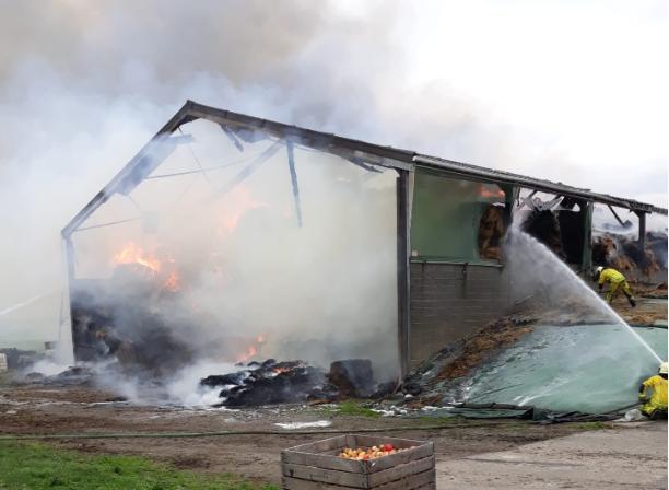Visé : important incendie dans un hangar agricole