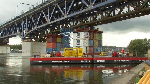 Visé : l'impressionnant chantier du pont des Allemands