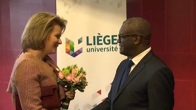 Visite royale à l'Uliège pour lancer la Chaire Mukwege