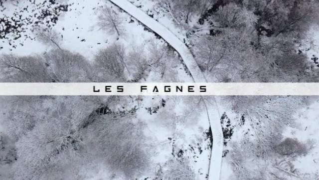 Vu du Ciel : neige sur les Hautes-Fagnes