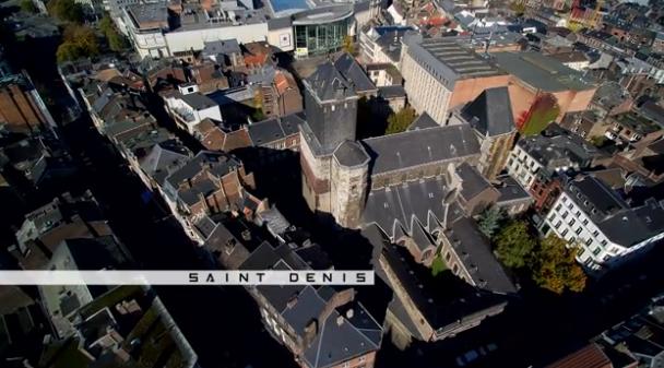 Vu du ciel : les collégiales de Liège