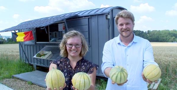 Wanze : il cultive des melons en Wallonie