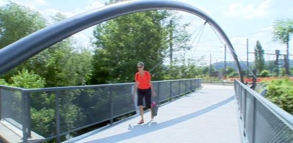 Wanze : la nouvelle passerelle cyclo-piétonne est accessible