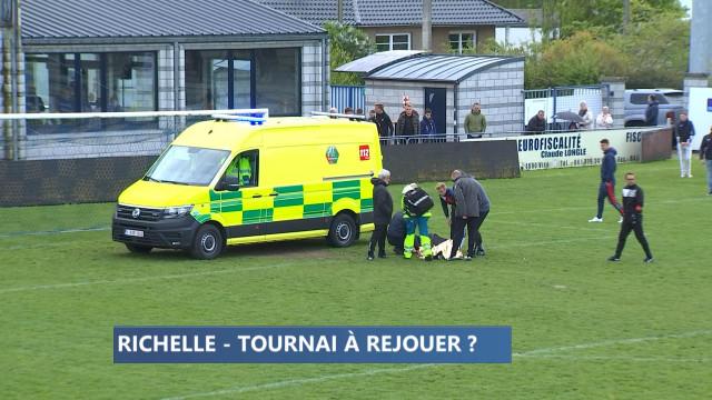 Zapping sports: grave blessure à Richelle et match incertain...